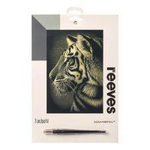 Reeves Arany képkarcoló - Tigris
