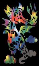 Reeves Mini színes képkarcoló - Sárkány