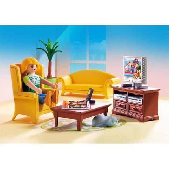 Playmobil Dollhouse 5308 Élvezem a kandalló melegét