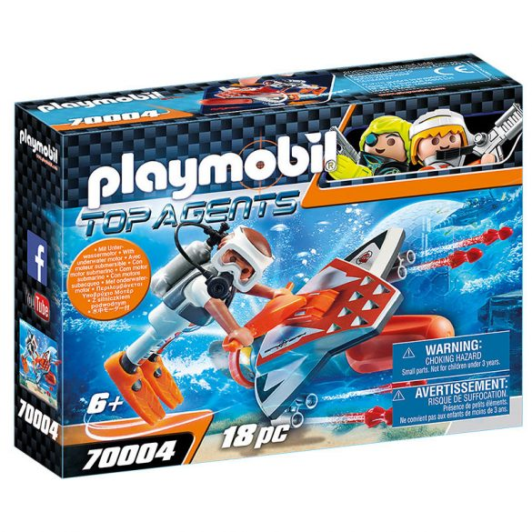 Playmobil Top Agents 70004 A Spy Team víz alatti szárnyai