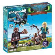 Playmobil Dragons 70040 Hablaty és Astrid sárkánybébivel