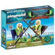 Playmobil Dragons 70042 Kőfej és Fafej szárnyakkal