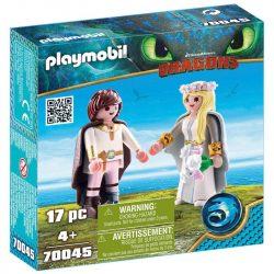 Playmobil Dragons 70045 Astrid és Hablaty esküvői ruhában 4f5d87e9ea