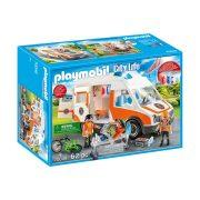 Playmobil City Life 70049 Mentőautó villogó fényekkel
