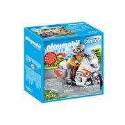 Playmobil City Life 70051 Mentőorvos motorkerékpárral