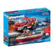 Playmobil City Action 70054 Tűzoltóautó mentőcsónakkal