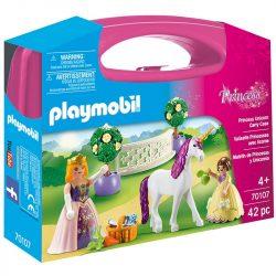 Playmobil Princess 70107 Hercegnő egyszarvúval hordozható játékszett 93ed4c2b07
