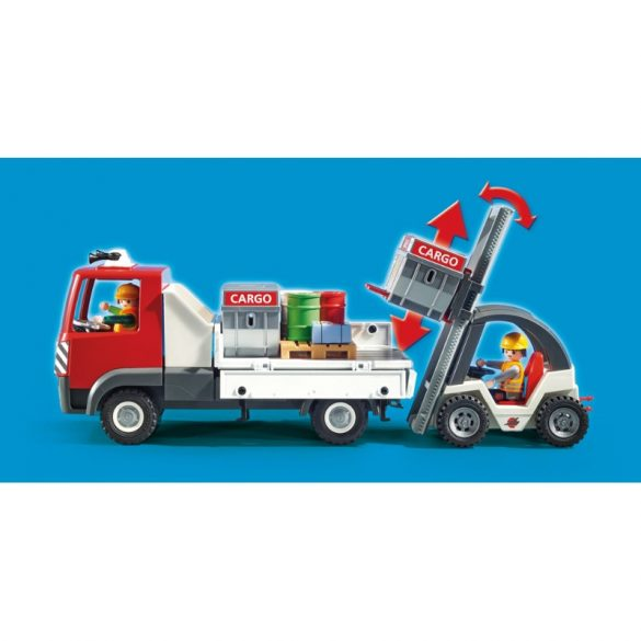 Playmobil City Action 70169 Reptéri tehercsarnok