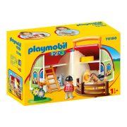 Playmobil 1-2-3 70180 Horhozható lovardám