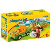 Playmobil 1-2-3 70182 Állatkerti autó orrszarvúval