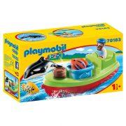Playmobil 1-2-3 70183 Tengerész halászcsónakkal
