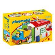 Playmobil 1-2-3 70184 Teherautó formaválogató garázzsal