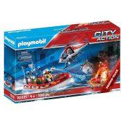 Playmobil City Action 70335 Tűzoltók helikopterrel és csónakkal