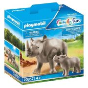 Playmobil Family Fun 70357 Orrszarvú kicsinyével