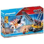 Playmobil City Action 70442 Lánctalpas köteles kotrógép