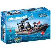 Playmobil City Action 9362 Speciális Egység gumicsónakja (SWAT hajó)