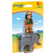 Playmobil 1-2-3 9381 Kiselefánt idomárral