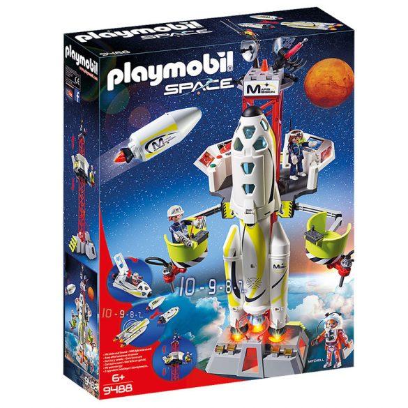 Playmobil Space 9488 Mars-rakéta a kilövőálláson