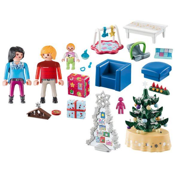 Playmobil Christmas 9495 Karácsony a nappaliban