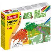 Quercetti rajzsablon állvánnyal - Dinoszauruszok szett