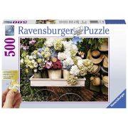 Ravensburger 13654 puzzle - Virágok és kalapok (500 db-os)