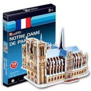 CubicFun S3012H 3D mini puzzle - Notre-Dame (39 db-os)