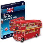 CubicFun S3018H 3D mini puzzle - Double Decker London busz (66 db-os)