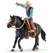 Schleich Farm World 41416 Nyerges bronc lovaglás cowboyjal
