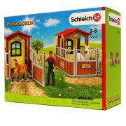 Schleich Farm World 72116 Látogatás a lóistállónál