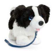Pórázos plüss kutya figura - Border Collie (30 cm)