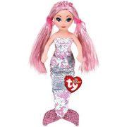 Sea Sequins Mermaids Cora - flitteres rózsaszín sellő plüss figura (27 cm)