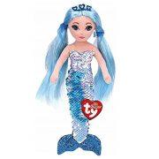 Ty Mermaids Indigo - Flitteres vízkék sellő baba (45 cm)