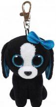 Beanie Boos Clip TRACEY - fekete/fehér kutya plüss figura 8,5 cm