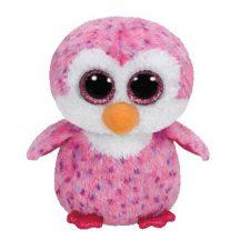 Beanie Boos GLIDER - rózsaszín pingvin plüss figura 15 cm