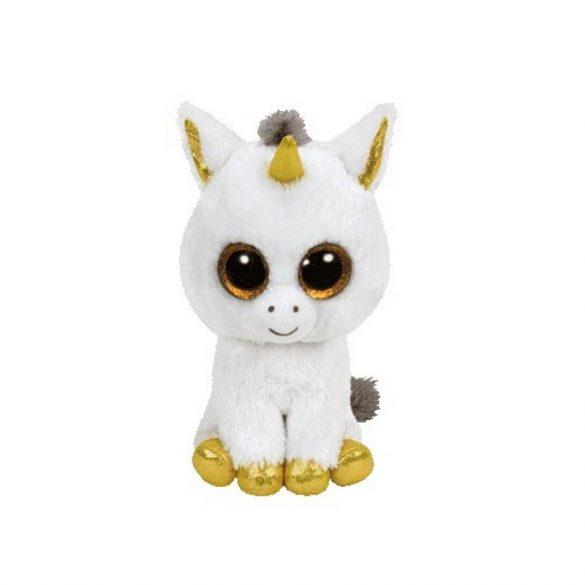 Beanie Boos PEGASUS - fehér unikornis plüss figura 15 cm