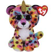 Beanie Boos Giselle - színes leopárd, aki unikornis is lehet (15 cm)