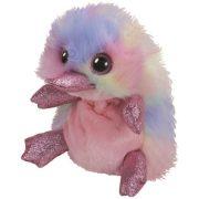 Beanie Boos Petunia - Rózsaszín kacsacsőrű emlős plüss figura (15 cm)
