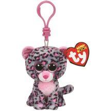 Beanie Boos Clip TASHA - rózsaszín/szürke leopárd plüss figura 8,5 cm