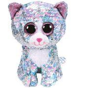 Boos Flippables - Whimsy flitteres kék macska plüss figura (15 cm)