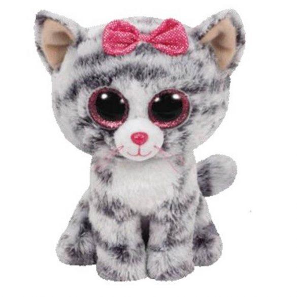 Beanie Boos Kiki - szürke macska plüss figura (42 cm)
