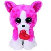 Beanie Boos ROMEO - rózsaszín kutya plüss figura 15 cm