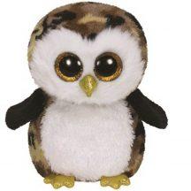 Beanie Boos OWLIVER - fekete/barna bagoly plüss figura 24 cm