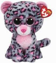 Beanie Boos TASHA - pink/szürke leopárd plüss figura 24 cm