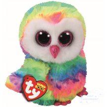 Beanie Boos OWEN - színes bagoly plüss figura 15 cm