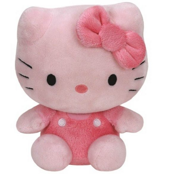 Beanie Babies HELLO KITTY - pink színű plüss figura 15 cm
