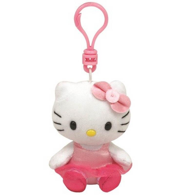 Beanie Babies Clip Hello Kitty - balerina plüss kulcstartó (8 1de83de22a