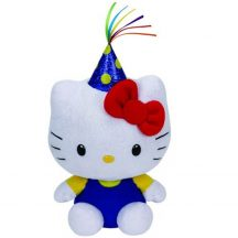 Beanie Babies HELLO KITTY - fehér cica plüss figura sapkával 15 cm