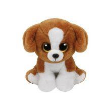Beanie Babies SNICKY - barna-fehér kutya plüss figura 15 cm