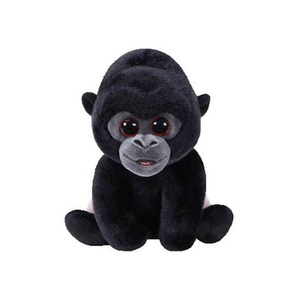 Beanie Babies BO - ezüsthátú gorilla plüss figura 15 cm