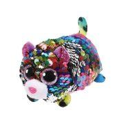 Teeny Tys Flippables - Dotty flitteres színes leopárd plüss figura (10 cm)